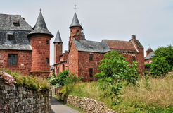 France, picturesque village of Collonges la Rouge Royalty Free Stock Photography
