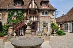 France, picturesque village of Dives sur Mer Stock Photos