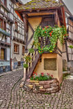 France, picturesque village of Eguisheim in Alsace Stock Images