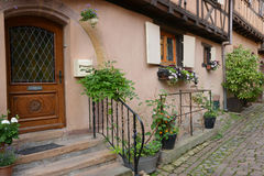 France, picturesque village of Eguisheim in Alsace Royalty Free Stock Images