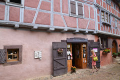 France, picturesque village of Eguisheim in Alsace Royalty Free Stock Photography