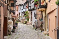 France, picturesque village of Eguisheim in Alsace Royalty Free Stock Image