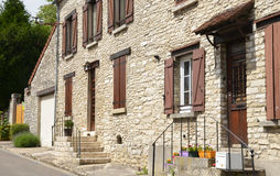 France, the picturesque village of Fontenay Saint Pere Stock Image