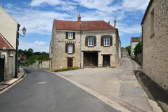 France, the picturesque village of Fontenay Saint Pere in les Yv Royalty Free Stock Images