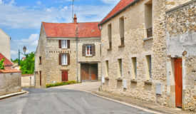 France, the picturesque village of Fontenay Saint Pere in les Yv Royalty Free Stock Photo