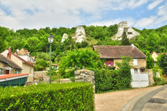 France, the picturesque village of Haute Isle. Ile de France, the picturesque village of Haute Isle Stock Images