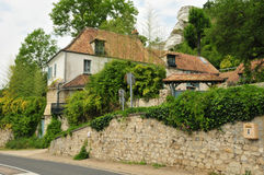 France, the picturesque village of Haute Isle. Ile de France, the picturesque village of Haute Isle Royalty Free Stock Images