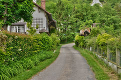 France, the picturesque village of Haute Isle. Ile de France, the picturesque village of Haute Isle Stock Photography