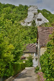 France, the picturesque village of Haute Isle. Ile de France, the picturesque village of Haute Isle Royalty Free Stock Photos