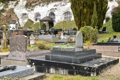 France, the picturesque village of Haute Isle. Ile de France, the picturesque cemetery of Haute Isle Stock Photography