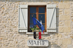 France, the picturesque village of Haute Isle. Ile de France, the picturesque city hall of Haute Isle Royalty Free Stock Photos