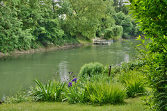 France, the picturesque village of Haute Isle. Ile de France, Seine river in the picturesque village of Haute Isle Royalty Free Stock Photography