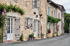 France, picturesque village of la Chapelle Faucher Stock Images