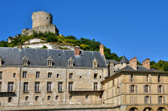 France, the picturesque village of La Roche Guyon Royalty Free Stock Images