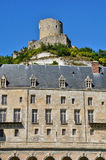 France, the picturesque village of La Roche Guyon Stock Photo
