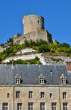 France, the picturesque village of La Roche Guyon Royalty Free Stock Photos