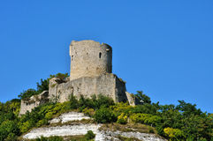 France, the picturesque village of La Roche Guyon Royalty Free Stock Photography
