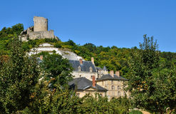 France, the picturesque village of La Roche Guyon Stock Photos