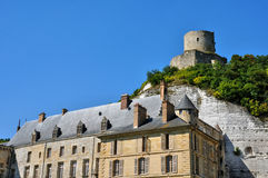 France, the picturesque village of La Roche Guyon Stock Images