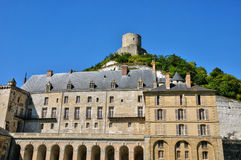France, the picturesque village of La Roche Guyon Royalty Free Stock Image