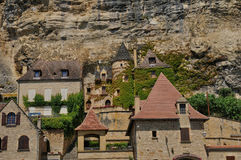 France, picturesque village of La Roque Gageac in Dordogne Royalty Free Stock Photo