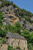 France, picturesque village of La Roque Gageac in Dordogne Stock Images