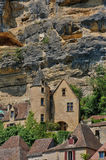 France, picturesque village of La Roque Gageac in Dordogne Royalty Free Stock Images