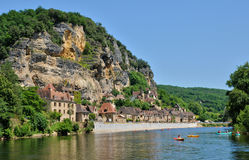 France, the picturesque village of La Roque Gageac in Dordogne Stock Photography