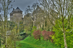 France, picturesque village of Lassay les Chateaux Royalty Free Stock Photo