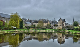 France, picturesque village of Lassay les Chateaux in Mayenne Royalty Free Stock Photos