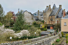 France, picturesque village of Lassay les Chateaux in Mayenne Royalty Free Stock Image