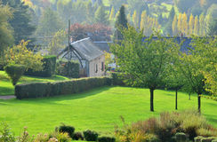 France, picturesque village of  Les Hogues in Normandie Stock Photography