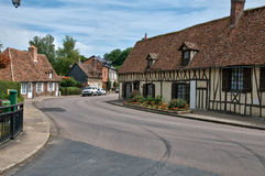 France, picturesque village of  Lyons la Foret Stock Image