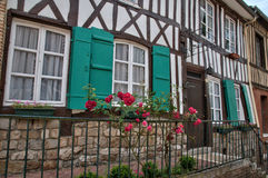 France, picturesque village of  Lyons la Foret Royalty Free Stock Images