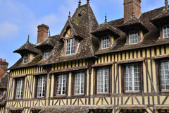 France, picturesque village of Lyons la Foret in Normandie Royalty Free Stock Images