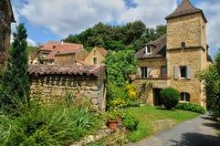 France, picturesque village of Montfort in Dordogne Stock Image