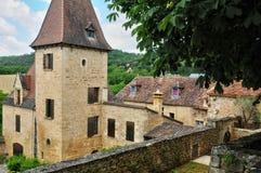 France, picturesque village of Montfort in Dordogne Royalty Free Stock Photos