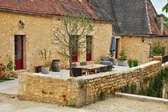 France, picturesque village of Montfort in Dordogne Stock Images