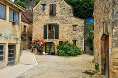 France, picturesque village of Montfort in Dordogne Stock Photography