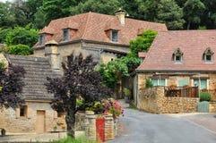 France, picturesque village of Montfort in Dordogne Stock Photos