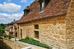 France, picturesque village of Montfort in Dordogne Royalty Free Stock Photos