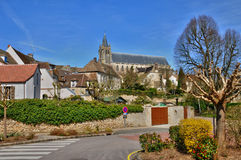 France, picturesque village of Montfort l Amaury royalty free stock images