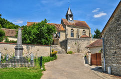 France, the picturesque village of Montreuil sur Epte. Ile de France, the picturesque church of Montreuil sur Epte royalty free stock photo