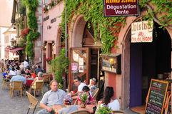 Free France, Picturesque Village Of Riquewihr In Alsace Stock Photography - 42502402