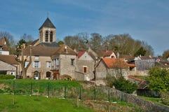 France, picturesque village of oinville sur Montcient Stock Photos