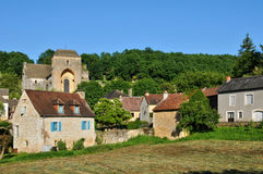France, picturesque village of Saint Amand de Coly Royalty Free Stock Image