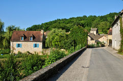 France, picturesque village of Saint Amand de Coly Royalty Free Stock Images