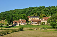 France, picturesque village of Saint Amand de Coly Stock Image