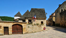 France, picturesque village of Saint Amand de Coly Royalty Free Stock Photography