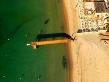 France, Pier, Aerial View, Beach Royalty Free Stock Photos